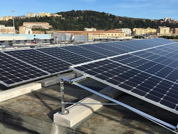 Impianto fotovoltaico a tetto