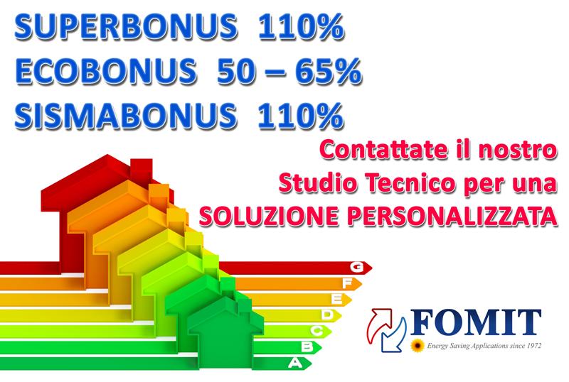 superbonus 110% sismabonus 110% ecobonus 50-65%